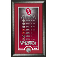 Oklahoma Sooners 7-Time National Champions Silver Coin Photo Mint LE 5,000