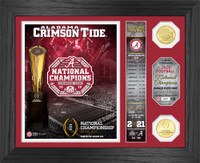 """Alabama Crimson Tide 2020/21 College Football National Champions """"Banner"""" Bronze Coin Photo Mint LE 5,000"""