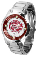 Alabama Crimson Tide 2020 18-Time National Champions Titan Stainless Steel Watch