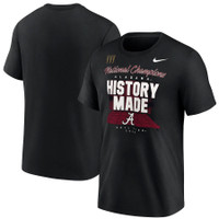 Alabama Crimson Tide Nike College Football Playoff 2020 National Champions Locker Room T-Shirt - Black