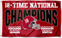 Alabama Crimson Tide 2020/21 18-Time Football National Championship 3' x 5' Flag