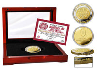 Alabama Crimson Tide 2020/21 18-Time Football National Championship 2-Tone 24 Gold and Silver Mint Coin W/Case LE 5,000
