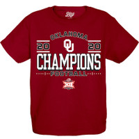 Oklahoma Sooners 2020 Big 12 Football Champions Locker Room T-Shirt - Crimson
