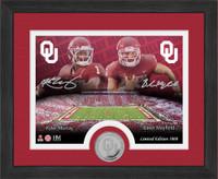 Oklahoma Sooners Kyler Murray Baker Mayfield Silver Coin Desktop Photo Mint LE 5,000
