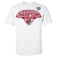 Oklahoma Sooners 2020 Cotton Bowl Champions Locker Room T-Shirt - White