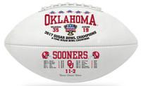 Oklahoma Sooners Sugar Bowl Championship Leather Football LE