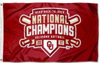 Oklahoma Sooners Back to Back Softball Champions 3' x 5' Flag