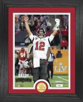 Tampa Bay Buccaneers Super Bowl LV Champions Tom Brady Super Bowl 55 Champion Bronze Coin Photo Mint LE 5,000