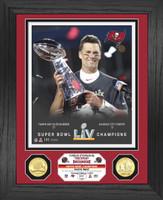 Tampa Bay Buccaneers Super Bowl LV Champions Tom Brady Super Bowl 55 Champion Trophy 2pc Bronze Coin Photo Mint LE 5,000