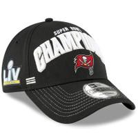Men's New Era Black Tampa Bay Buccaneers Super Bowl LV Champions Locker Room 9FORTY Snapback Adjustable Hat