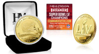 Tampa Bay Buccaneers Super Bowl 55 Champions Gold Mint Coin LE 5,000