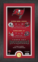 Tampa Bay Buccaneers 2 Time Super Bowl Champions Gold Coin Photo Mint LE 5,000