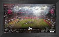 Tampa Bay Buccaneers Super Bowl 55 Champions Team Signature Print LE 5,000
