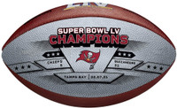 Tampa Bay Buccaneers Super Bowl LV Commemorative Leather Championship Football LE