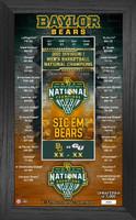 Baylor Bears 2021 NCAA Men's Basketball National Championship Seasons Score Ticket Photo Mint LE 5,000