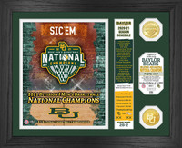 Baylor Bears 2021 NCAA Men's Basketball National Championship 2pc Gold Coin Photo Mint LE 5,000