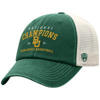 Baylor Bears 2021 NCAA Men's Basketball National Champions Traditional Trucker Snapback Adjustable Hat - Green