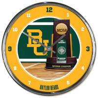 Baylor Bears 2021 NCAA Men's Basketball National Champions Chrome Clock