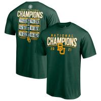 Baylor Bears 2021 NCAA Men's Basketball National Champions Bracket T-Shirt - Green