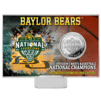 Baylor Bears Highland Mint 2021 NCAA Men's Basketball National Champions 4'' x 6'' Silver Coin Card