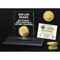 Baylor 2021 NCAA Men's Basketball Champions Gold Coin & Acrylic Display