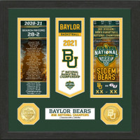Baylor 2021 NCAA Men's Basketball Champions Ticket And Banner Photo Mint LE 5,000
