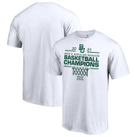 Baylor Bears 2021 Big 12 Men's Basketball Regular Season Champions T-Shirt - White