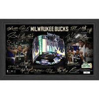 "Milwaukee Bucks 2021 NBA Champions Signature Court Framed 12"" x 20"" LE 5,000"