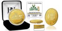 Milwaukee Bucks 2021 NBA Champions 24k Gold Coin LE 5,000