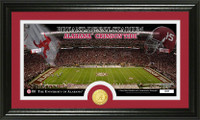 Alabama Stadium Bronze Coin Panoramic Photo Mint