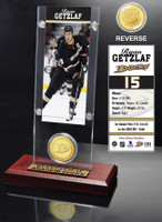Ryan Getzlaf Ticket and Bronze Coin Desktop Acrylic