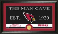 Arizona Cardinals Man Cave Bronze Coin Panoramic Photo Mint