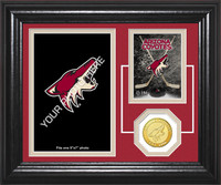 Arizona Coyotes Fan Memories Bronze Coin Desktop Photo Mint