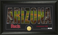 Arizona Diamondbacks Silhouette Bronze Coin Photo Mint