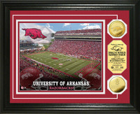 University of Arkansas Stadium Gold Coin Photo Mint
