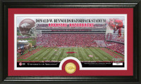 University of Arkansas Stadium Bronze Coin Panoramic Photo Mint