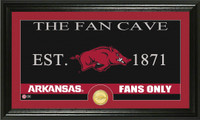 University of Arkansas Fan Cave Bronze Coin Panoramic Photo Mint