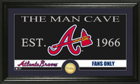 Atlanta Braves The Man Cave Bronze Coin Panoramic Photo Mint