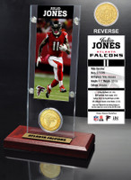 Julio Jones Ticket & Bronze Coin Acrylic Desk Top