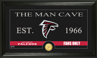 Atlanta Falcons Man Cave Bronze Coin Panoramic Photo Mint