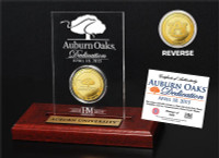 Auburn Oaks Dedication Gold Coin Etched Acrylic