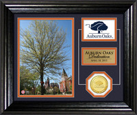 Auburn Oaks Dedication Bronze Coin Desktop Photo Mint