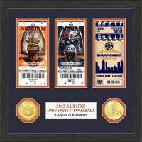 "*Auburn Tigers ""Season to Remember"" Ticket and Coin Collection"