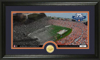 Jordan Hare Stadium 75th Anniversary Bronze Coin Pano Photo Mint