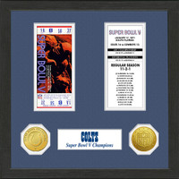 Baltimore Colts  SB Championship Ticket Collection