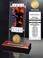 Super Bowl 5 Ticket & Game Coin Collection