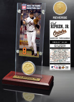 Cal Ripken Jr. Hall of Fame Ticket & Bronze Coin Acrylic Desk Top