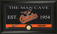 Baltimore Orioles The Man Cave Bronze Coin Panoramic Photo Mint