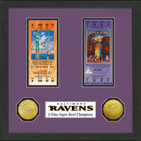 Baltimore Ravens  SB Championship Ticket Collection