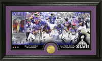 Baltimore Ravens Super BowlxLVII Champions Bronze Coin Pano Photo Mint